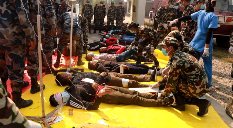 नेपालगञ्जको राँझा विमानस्थलमा बृहत् आपत्कालीन पूर्व अभ्यास